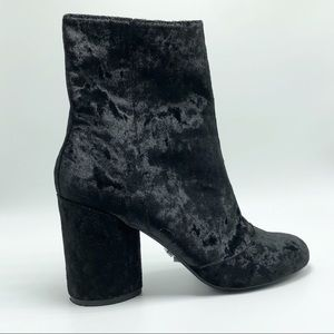Topshop Black Velvet Booties